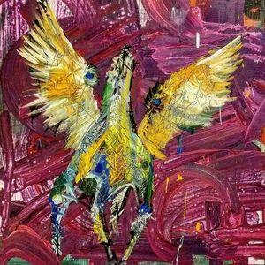 """Original Wall Art """"Pegasus"""" 24""""×24""""×1"""""""